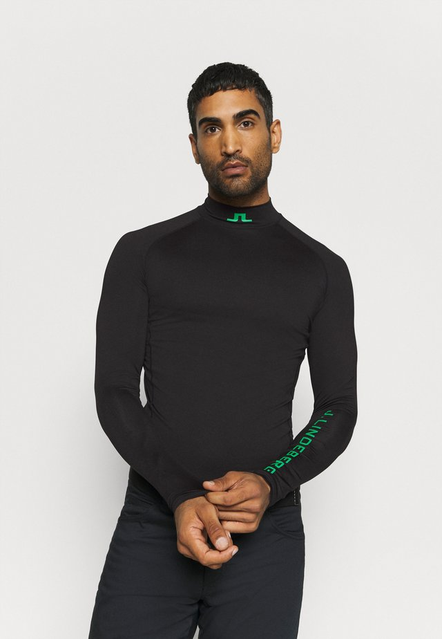 AELLO SOFT COMPRESSION - Sports shirt - black