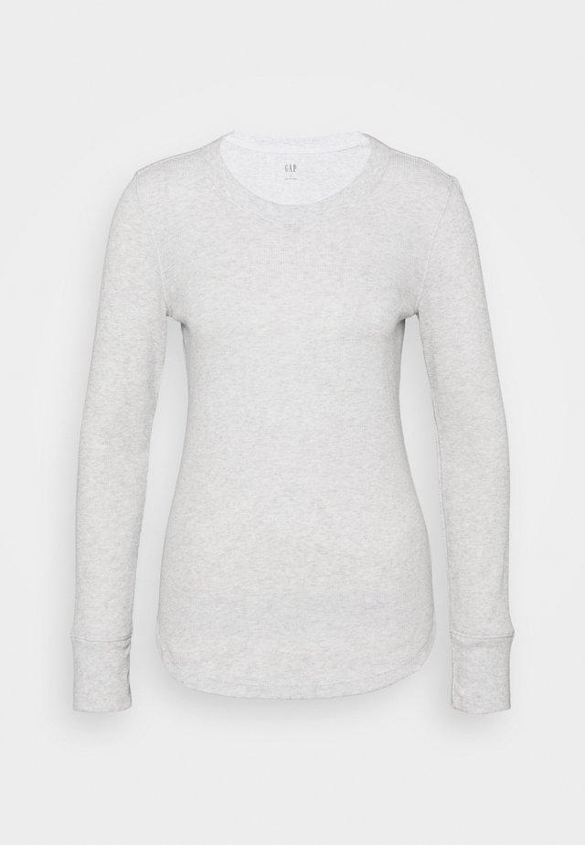 WAFFLE TEE - Long sleeved top - light heather grey