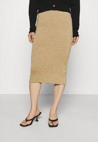 VILA PETITE - VICOMFY SKIRT - Pencil skirt - tiger eye melange - 0