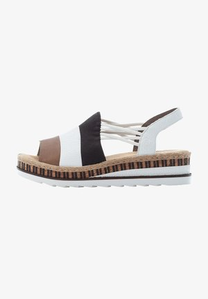 Wedge sandals - linen-white-black