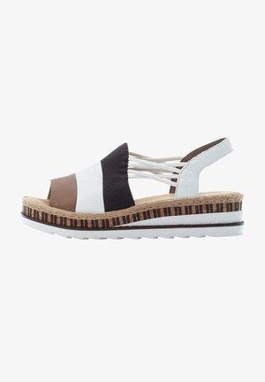 Wedge sandals - linen-white-black