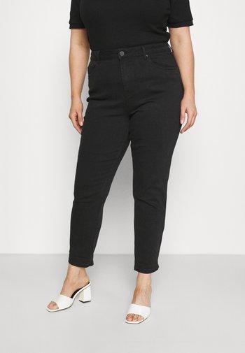 HIGH WAIST MOM - Skinny džíny - black