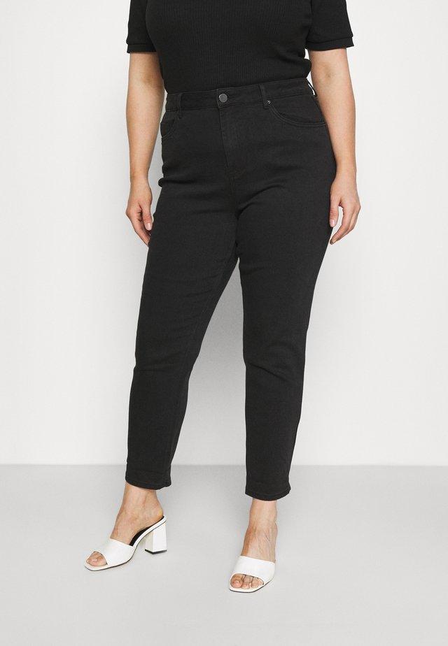 HIGH WAIST MOM - Jeans Skinny - black