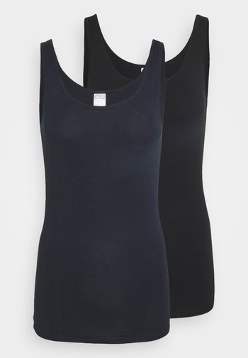 2 PACK - Undershirt - blue/black