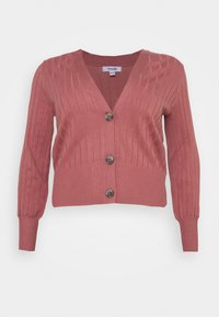 Simply Be - V NECK  - Cardigan - baked pink - 4