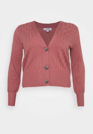 V NECK  - Strickjacke - baked pink