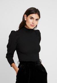 Trendyol - SIYAH - Långärmad tröja - black - 0