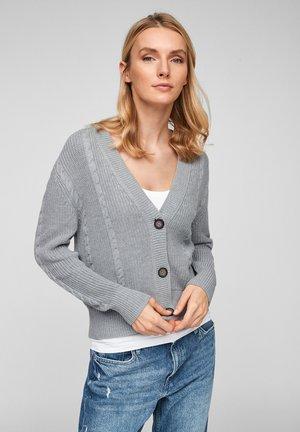MIT STRICKMUSTER - Cardigan - grey melange