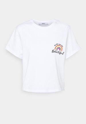 ONLRAINBOW POCKET GRAPHIC - T-shirt con stampa - white