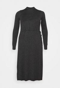 Vero Moda Curve - VMSHARM HIGHNECK DRESS - Jumper dress - dark grey melange - 4