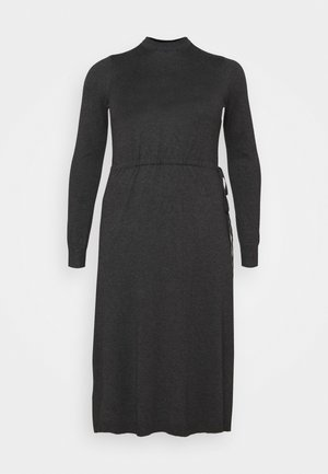 VMSHARM HIGHNECK DRESS - Jumper dress - dark grey melange