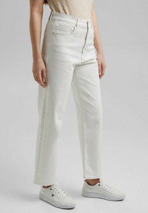 Straight leg jeans - off-white