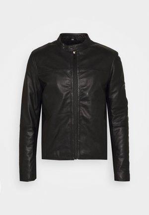 LEVINE - Leather jacket - black