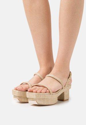 FIFI - Sandalen met plateauzool - natural