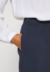 Esprit - FLOTY PANT - Trousers - navy - 4