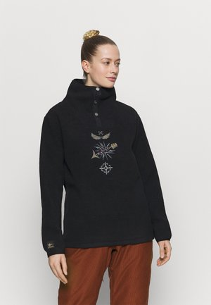 STEVIE FUNNEL NECK - Fleece trui - true black