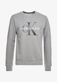 ICONIC MONOGRAM CREWNECK - Sweatshirts - mid heather grey