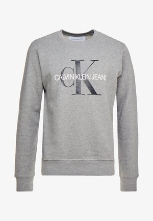 ICONIC MONOGRAM CREWNECK - Sweater - mid heather grey
