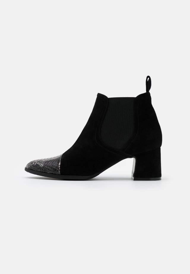 Ankle boots - argento/nero