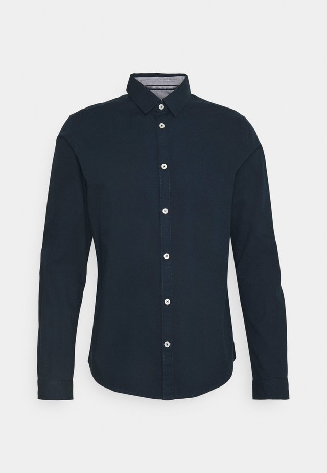 FITTED DOBBY - Camicia - dark blue