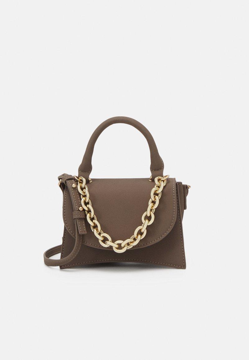 Topshop - MINI XBODY WITH CHAIN - Handbag - pale blue
