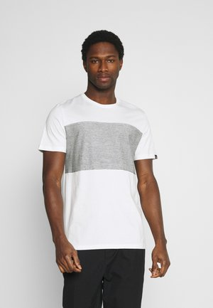 WITH STRIPED INSERT - T-shirt print - off-white