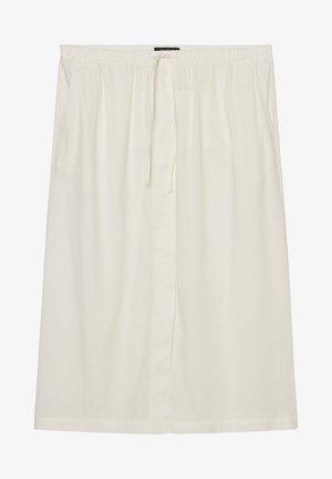 A-line skirt - cotton white