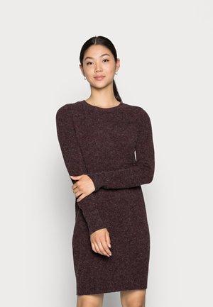 VMDOFFY O NECK DRESS - Jumper dress - port royale detail black melange