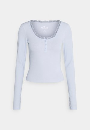 BUTTON THRU HENLEY - Topper langermet - xenon