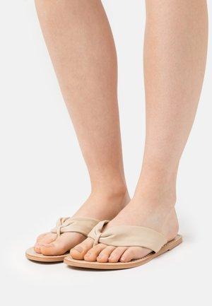 YASSALLI FLAT  - T-bar sandals - ivory cream
