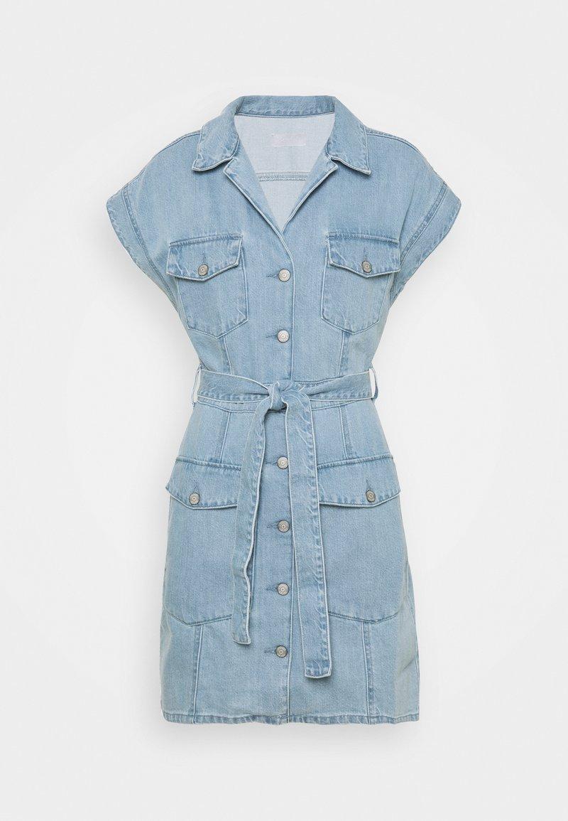 Boyish - THE JOE SAFARI DRESS - Spijkerjurk - light blue