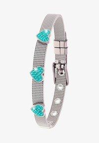 Lucardi - Armband - zilverkleurig/blauw - 1
