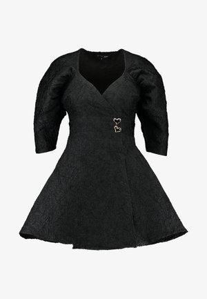MIDNIGHT MINI WRAP DRESS - Cocktail dress / Party dress - black
