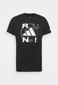 LOGO GRAPHICS AEROREADY - Print T-shirt - black
