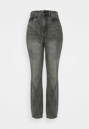 NMISABEL MOM - Straight leg jeans - grey denim