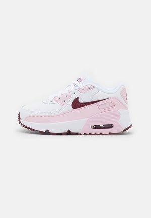 AIR MAX 90 UNISEX - Sneakersy niskie - white/dark beetroot/pink foam