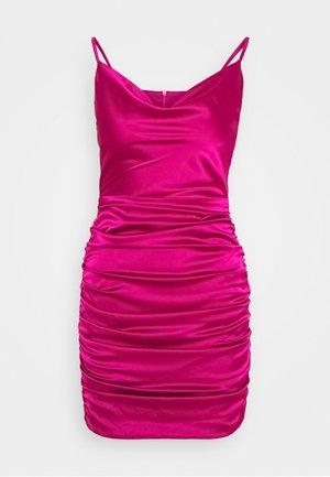 COWL NECK STRAPPY BODYCON DRESS - Shift dress - purple