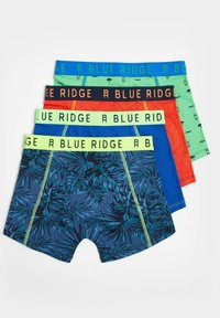 WE Fashion - 4 PACK - Pants - dark green, mottled orange, light blue - 1