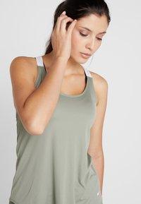 Nike Performance - DRY TANK ELASTIKA - Sports shirt - jade stone/white - 4