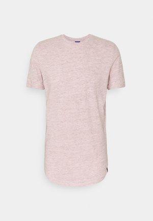 JORNOA STRUCTURE TEE CREW NECK - Camiseta estampada - peachskin