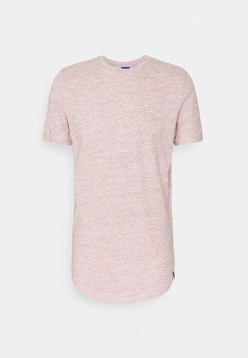 JORNOA STRUCTURE TEE CREW NECK - Print T-shirt - peachskin