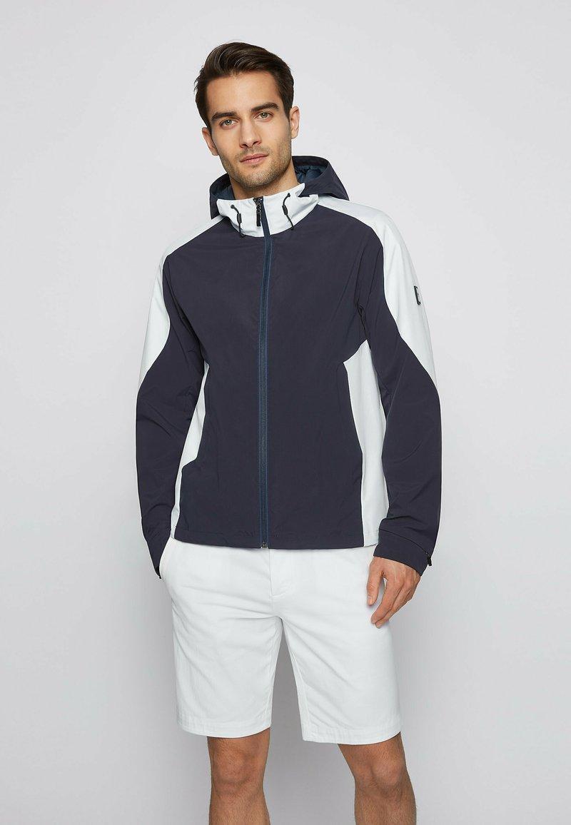 BOSS - Training jacket - dark blue