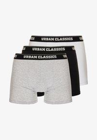Urban Classics - MEN BOXER 3 PACK - Pants - black/white/grey - 3