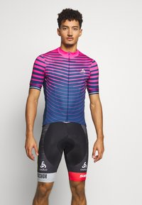 ODLO - STAND UP COLLAR FULL ZIP - Print T-shirt - beetroot purple/estate blue - 0