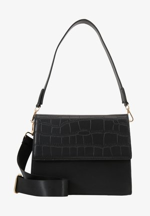 CHRIS CROSS BODY - Håndveske - black/gold
