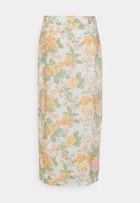 Monki - VIVVI SKIRT - Maxi skirt - white/dusty light - 6