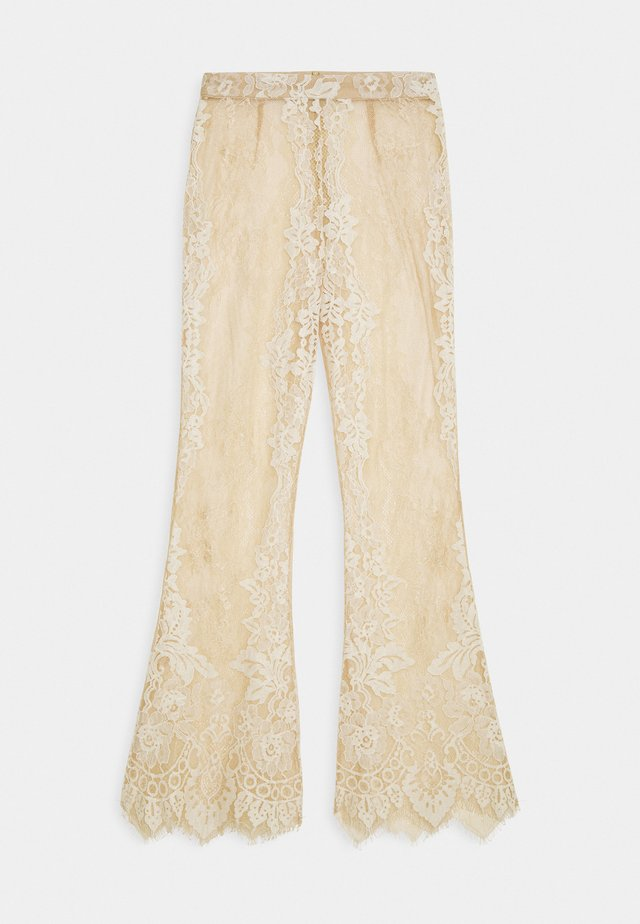 PREMIUM EYELASH TROUSER - Beach accessory - beige