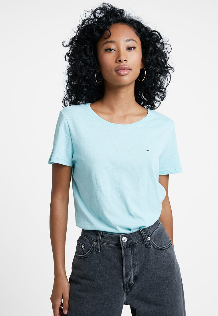 Tommy Jeans - SOFT TEE - T-shirt basique - canal blue