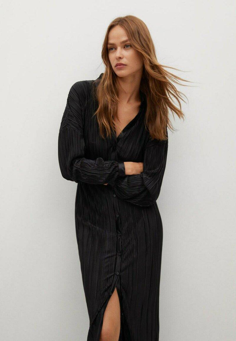 Mango - Shirt dress - černá