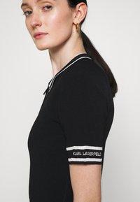 KARL LAGERFELD - FLAIR DRESS - Sukienka dzianinowa - black - 5
